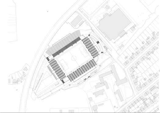 site plan of Ludwigspark Football Stadium