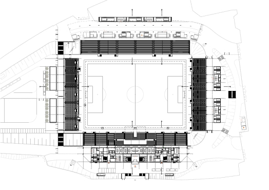 plan of Ludwigspark Football Stadium