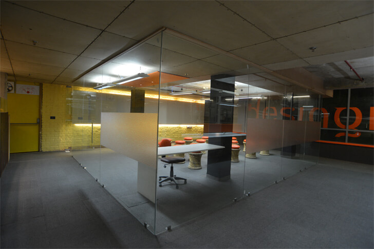 full height glass walls - The Design Village