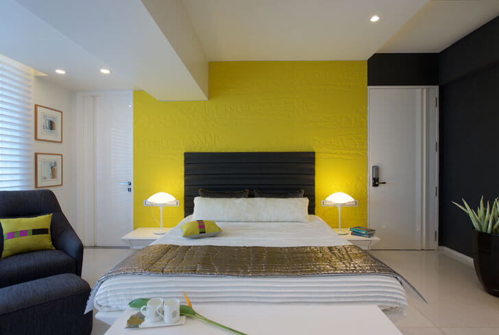 yellow textured wallpaper