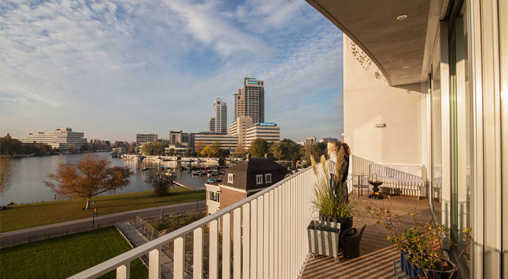 loft apartments with a waterfront view in Amsterdam