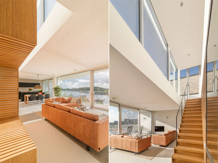 interiors of waterfront apartments
