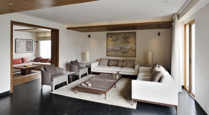 lush living room