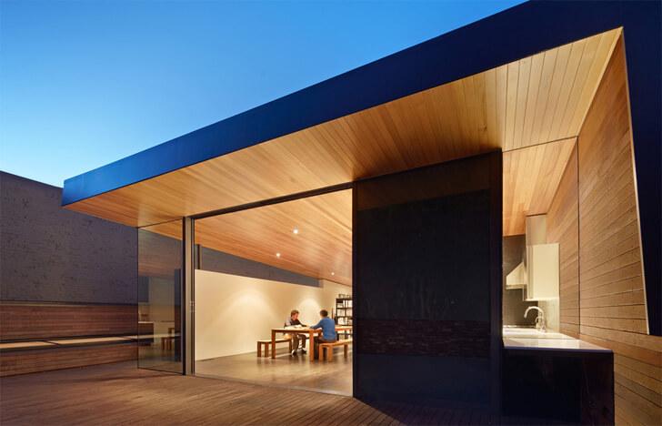 wooden upper deck