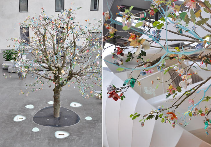 tree of paper flowers