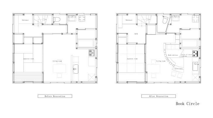 before and after renovation plans