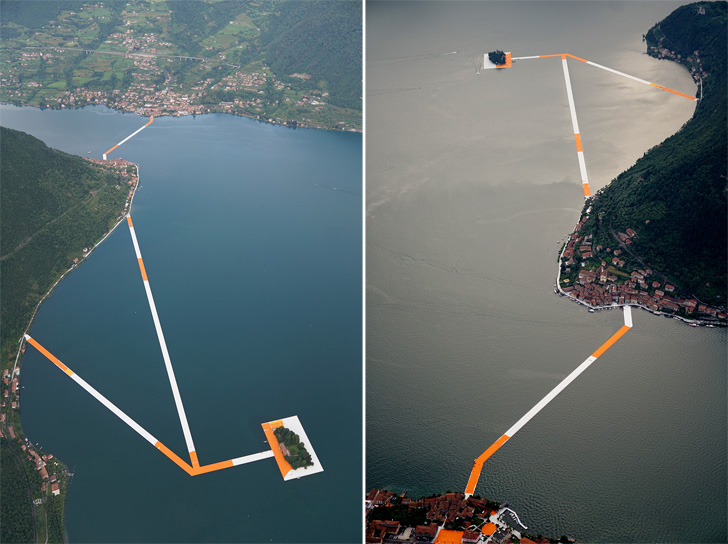 installation of the floating piers