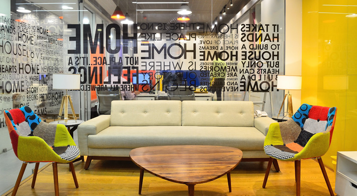 india art n design inditerrain: real estate office gets a creative