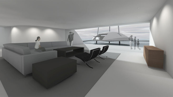 living area in Tidal House
