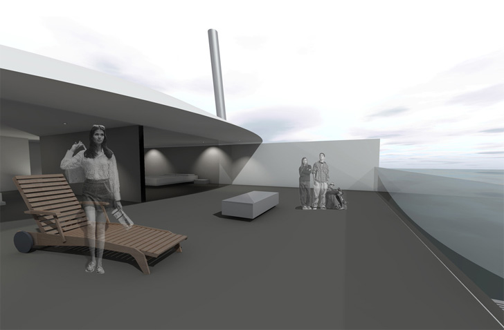 tidal house - deck
