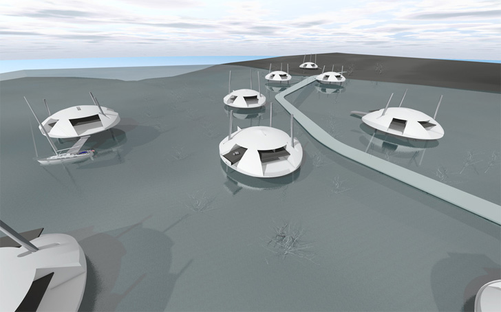 neighbourhood of tidal houses