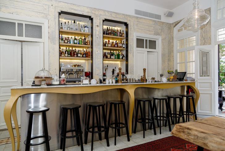 modern stainless steel bar