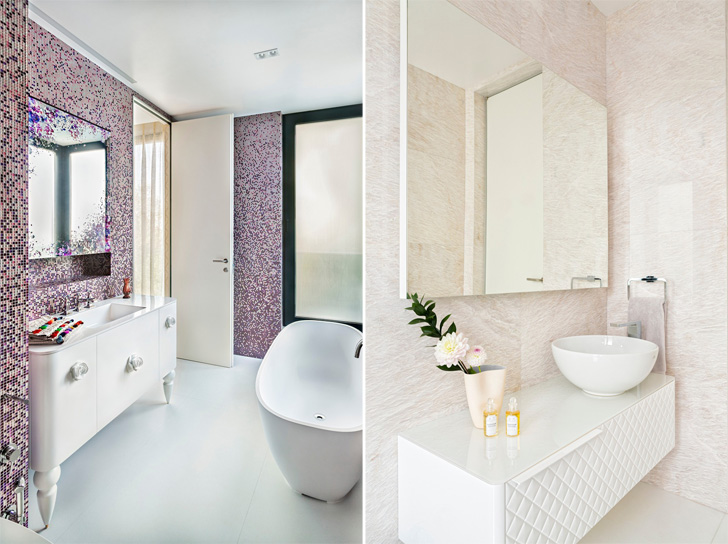 plush bathroom ideas; courtesy KNOF Design