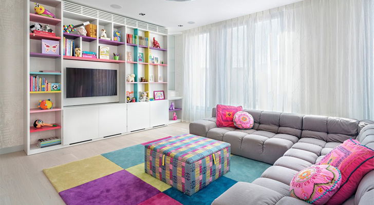 colourful accents in modern home
