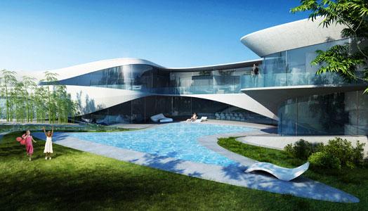 day view of aqua villa