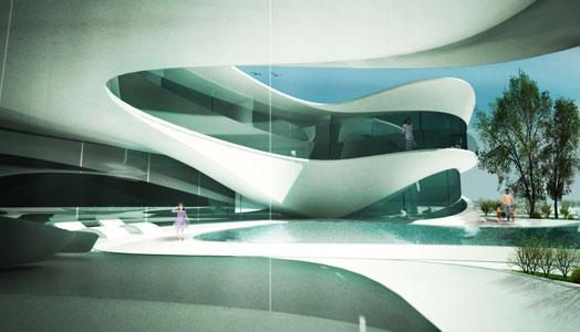 interiors of aqua villa