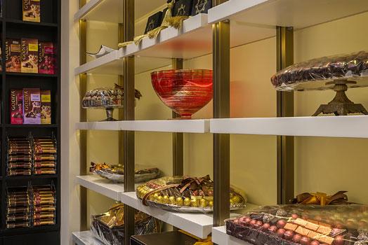display of Godiva chocolates