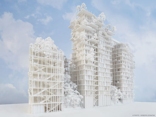 model of world's tallest timber tower