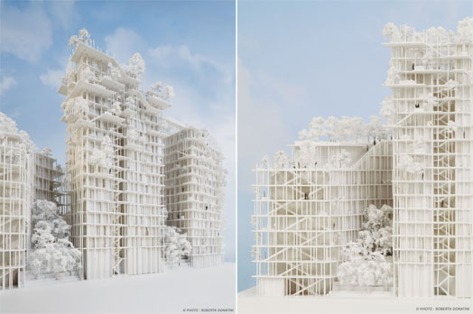 urban landmark-mixed use - Canopia model in Bordeaux France