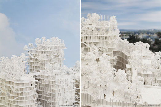 model of roof gardens