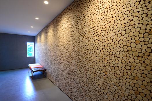 bamboo clad wall