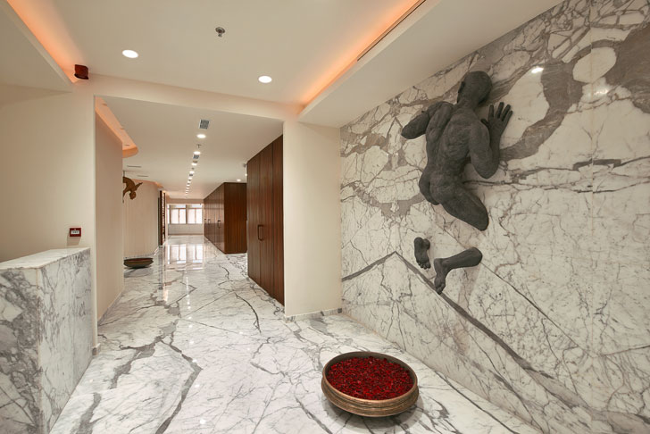 corridor acts as a gallery