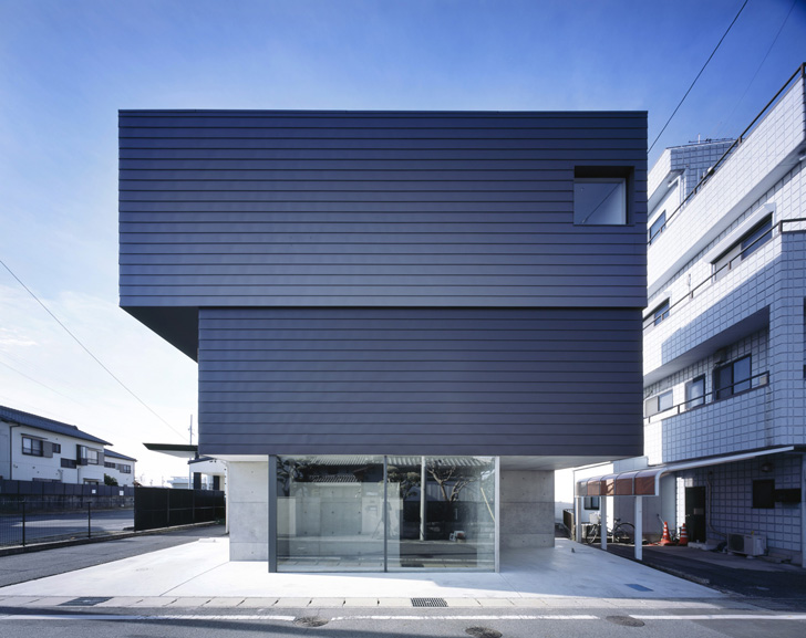 steel siding and partially concrete house