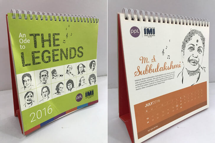 """PPL calendar HB Design Pvt Ltd indiaartndesign"""