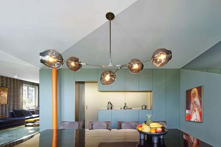 """contemporary ceiling lights House Benz Ippolito Fleitz Group indiaartndesign"""