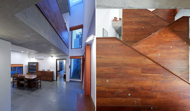 """vertical volume marbled house matharoo associates indiaartndesign"""