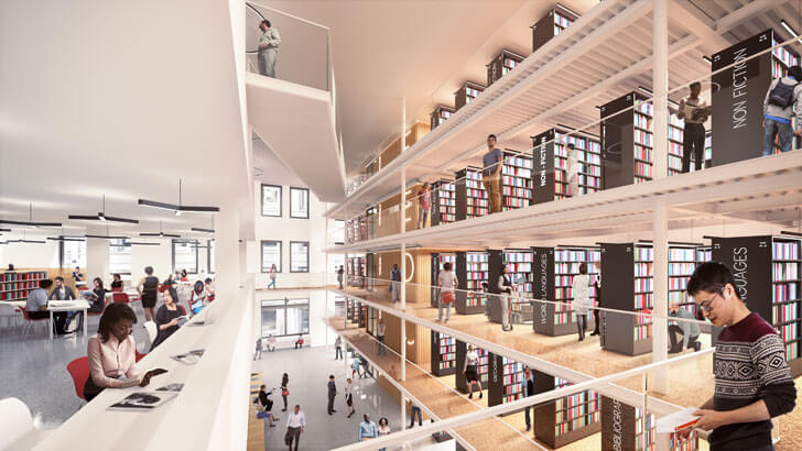 """NYPL Mid-Manhattan Library Long Room Mecanoo with Beyer Blinder Belle indiaartndesign"""
