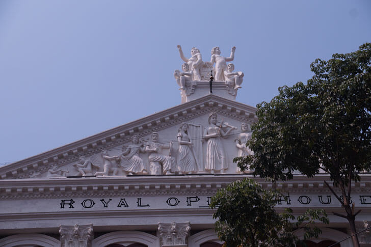 """Carved Pediment Royal Opera House Mumbai Abha Lambah Associates indiaartndesign"""