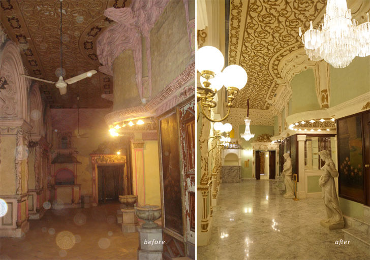"""""""Corridor Royal Opera House Mumbai Abha Lambah Associates indiaartndesign"""""""