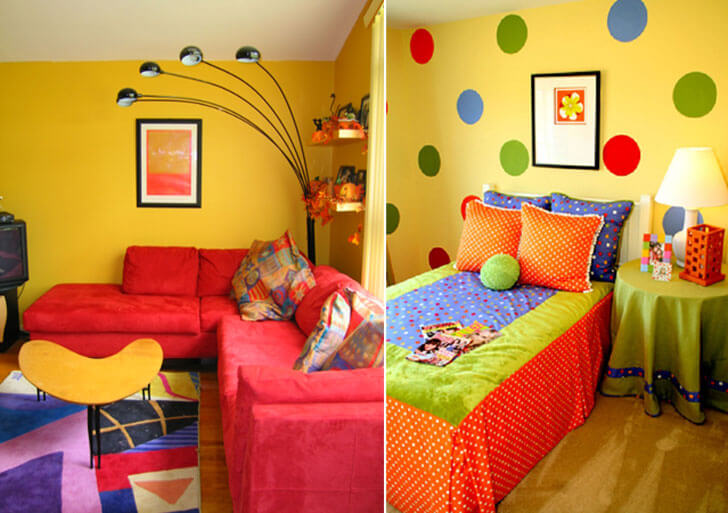 colourful chic interiors