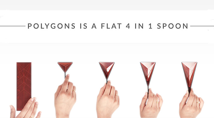 polygons 4-in-1 spoon