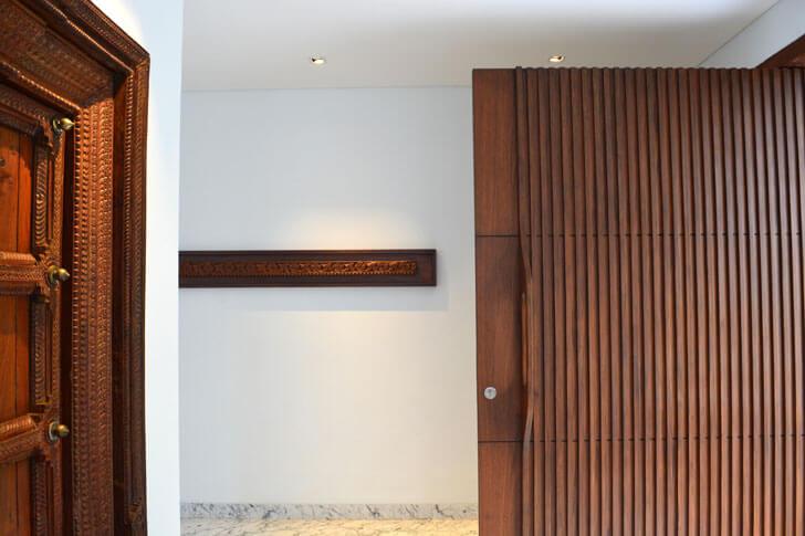 old door juxtaposed with modern door