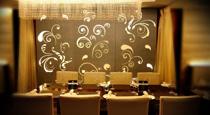 glamorous dining area