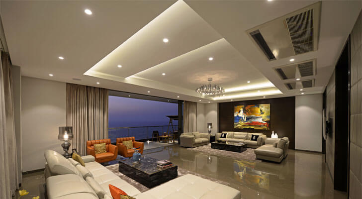 sea facing living room