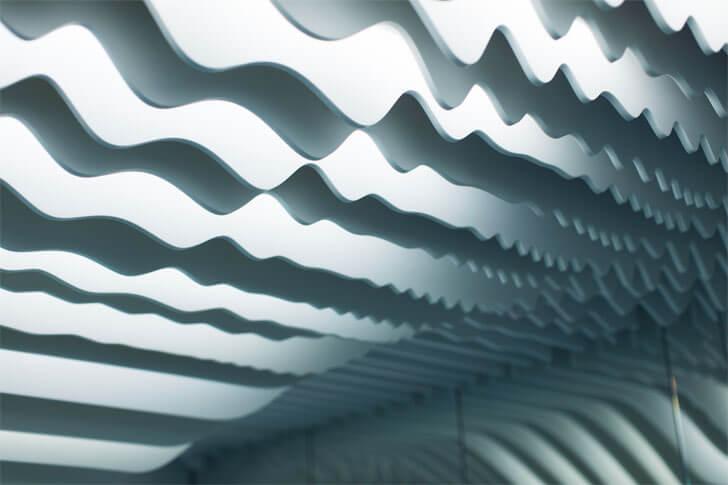 undulating ceiling