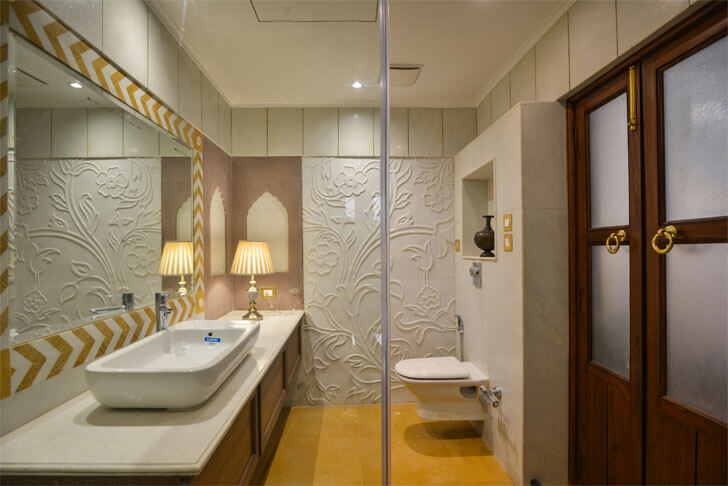 contemporary washroom- haveli dharampura