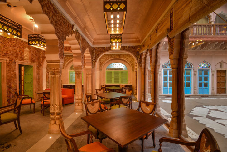ground floor restaurant-Haveli-Dharampura