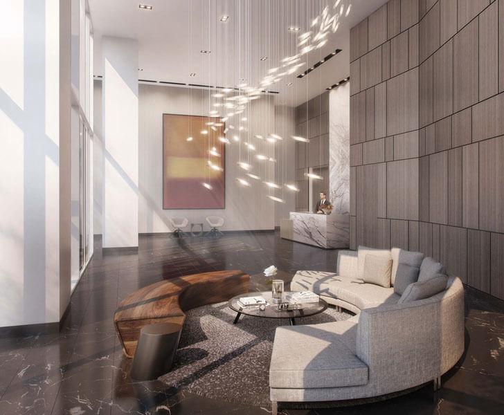 Tower D Lobby at LUMINA Condominium Development