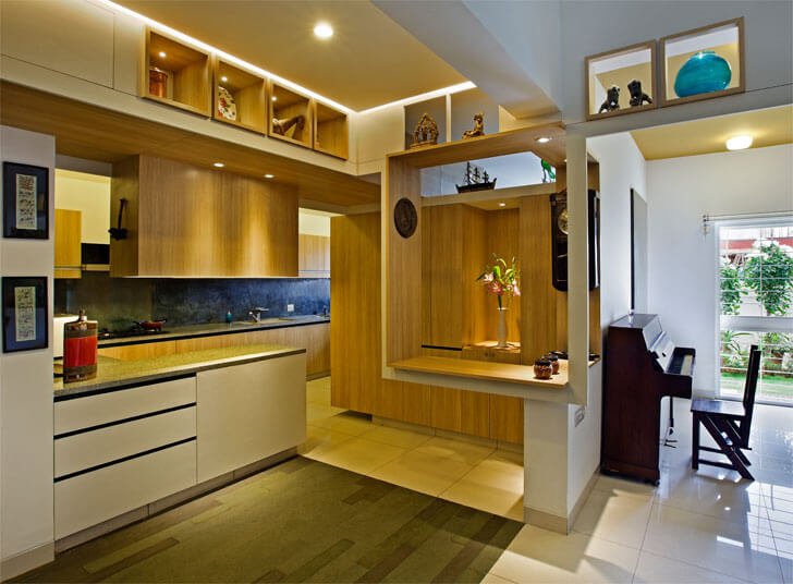 u-shaped open kitchen