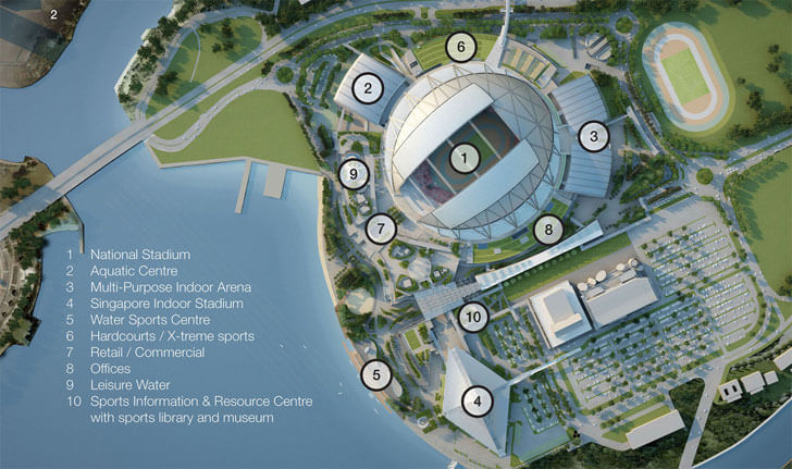 plan of Singapore's National Stadium