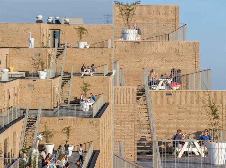 stepped interactive terraces