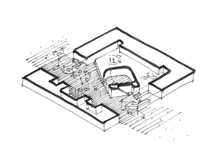 town hall design sketch
