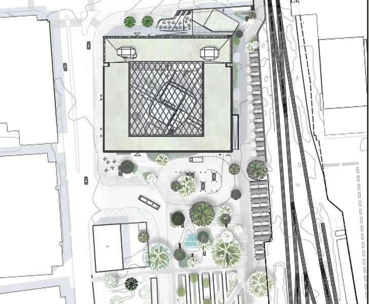 town hall site plan