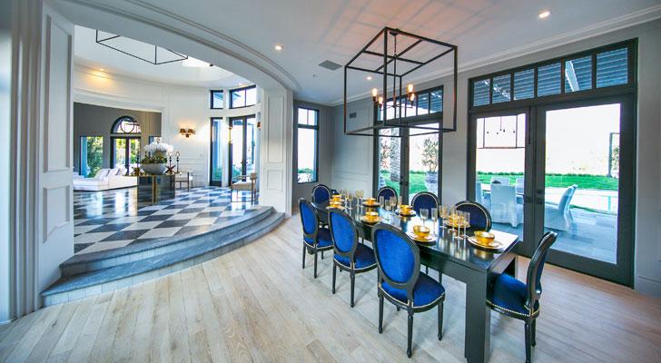 palatial dining area