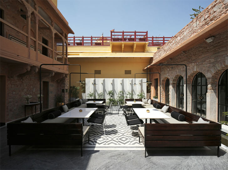 Baradari - courtyard seating
