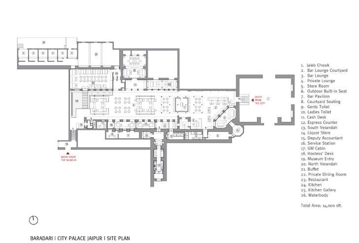 Baradari- site plan